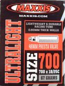 Duše MAXXIS Ultralight 28erx0.75-1.00 (18/25-622) FV/48mm